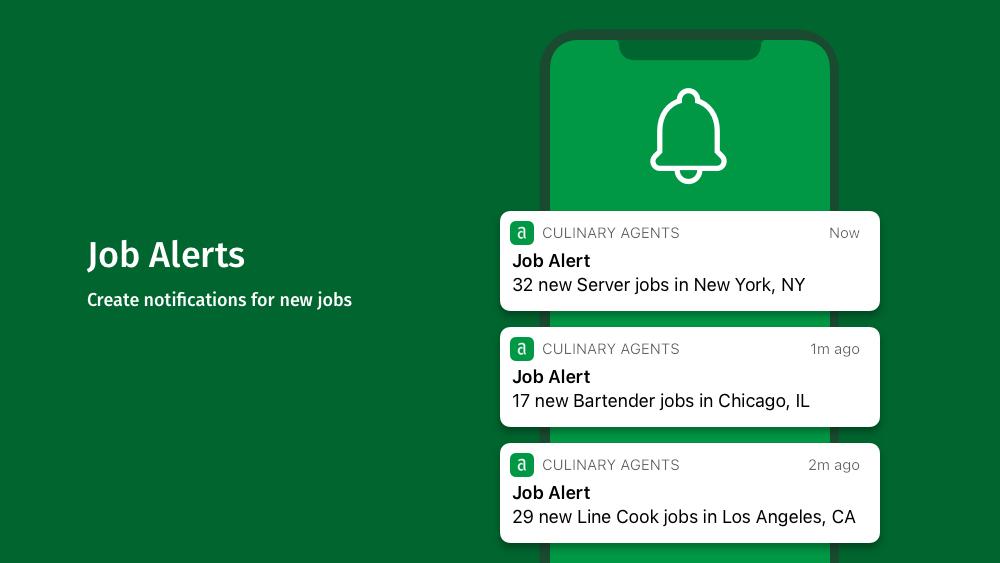 CulinaryAgents - Mobile App - Job Alerts