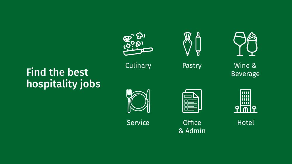 CulinaryAgents - Mobile App - Job Categories