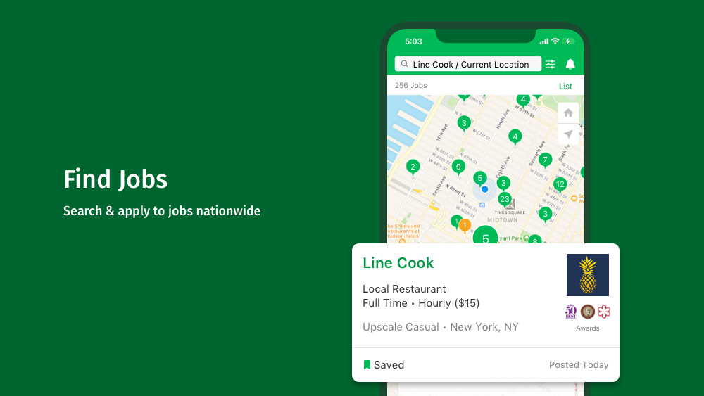 CulinaryAgents - Mobile App - Map Search