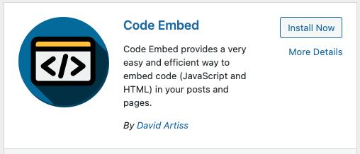 Wordpress-CulinaryAgents CodeEmbed a Code Block